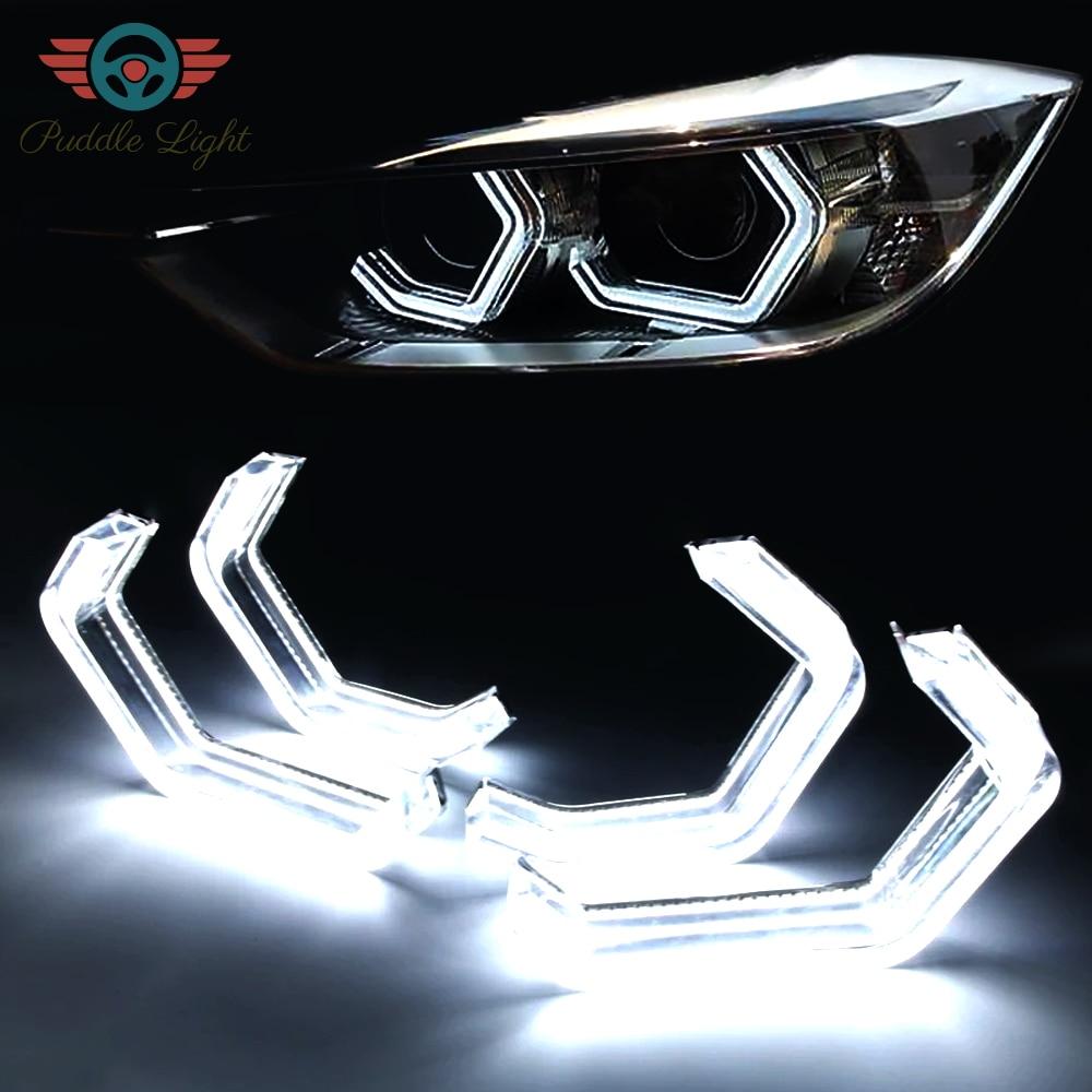 LED Angel Eyes Halo Rings Car Light Running Lamp DRL For 2 3 4 5 Series BMW F30 F31 F34 F10 F13 F18 F22 M2 M3 M4 M5 E90 E81 E82