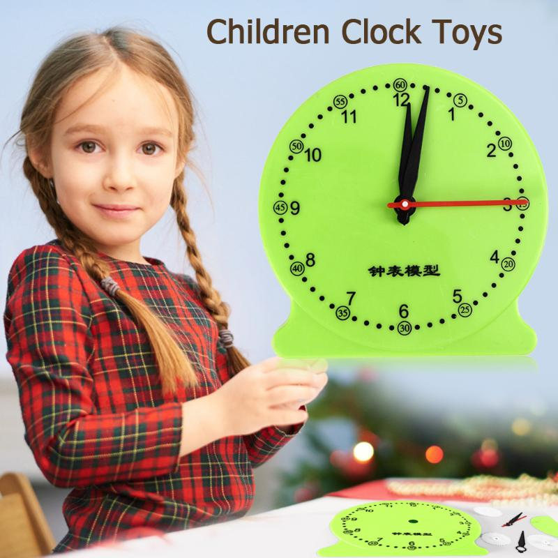 Kids Children DIY Clock Model Kit Rich In Color Benefiting Eyes Development School Students Time Cognition Montessori Toys