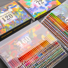 Brutfuner 48/72/120/160/180 Colors High Quality Oily Colored Pencils Set Oil HB Drawing For School Student Gifts Art Supplies