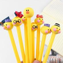 1Pcs Wholesale Creative Pens Cartoon Writing Gel Pen Office Stationery Student school Pen Escolar Canetas Kid 2 pcs creative japan and south korea cartoon lovely bear gel pen writing pen school office stationery products