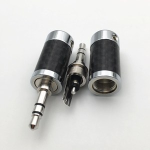 Image 2 - 4Pcs โรเดียมชุบ 3.5 มม./4.4 มม.3 5 Pole ปลั๊กหูฟังสเตอริโอคาร์บอนไฟเบอร์ชุดหูฟัง HiFi Audio DIY แจ็คเชื่อมต่อ