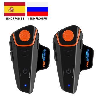 Fodsports BT-S2 Pro motorcycle helmet intercom motorbike wireless bluetooth Headset waterproof BT Interphone with FM