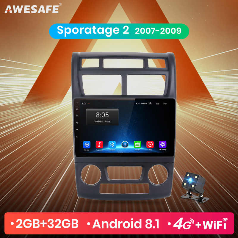 AWESAFE for Kia Sportage 2007 2008 2009 Car Radio Multimedia video player GPS No 2din 2 din Android 8.1 2G+32G