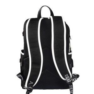 Image 2 - Mochilas escolares de moda para estudiantes de animación, mochilas escolares para niño y niña, mochila para ordenador portátil con carga USB