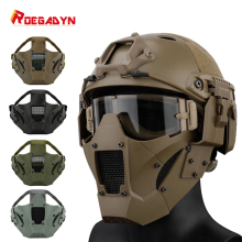 ROEGADYN Camo Anti-slip Tactical Helmet Mask Half Face Paintball Facial Protection Breathable Airsoft