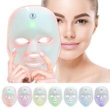 Светодиодный омолаживающая маска для кожи светодиодный лечения