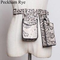 Women Waist Bag Designer Fanny Pack Leather Streetwear Purse Crocodile Crossbody Belt Bag Phone Waist Pack Ladies Bum Chest Bags