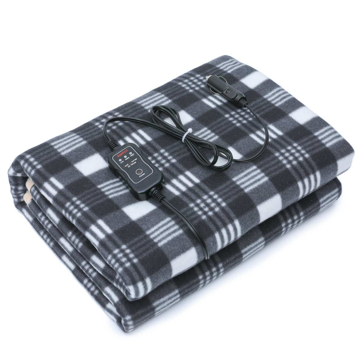 Car Heating Blanket Lattice Energy Saving Warm Autumn Winter Car Electric Blanket Safety Automotive Car Heating 60X43.5 Inch 12V