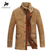 Plus Size 6XL 7XL Top Quality Woolen Warm Men's Warm Winter Jacket Windproof Casual Outerwear Thick