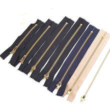 Zíper de metal para costura e calça 10 peças, acessórios para bricolagem, ferramentas com zíper, faça você mesmo costura