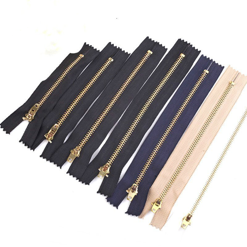 10pcs 8-25cm Metal Zipper for Sewing Zip Garment Accessories Jeans Zippers DIY Tools Zipper DIY Apparel Sewing