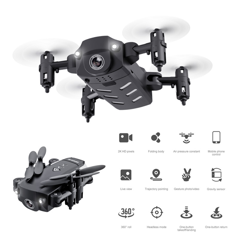 Mini Drone With Camera Fly High Pressure On Hover Real-Time Transmission Gesture Photo Mini Drone Folding Quadcopter KK8 Toys