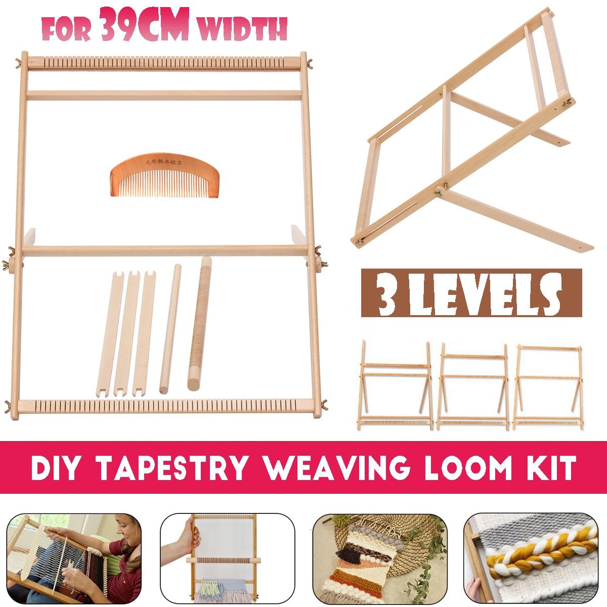 Wooden Weaving Loom Kit Hand-Woven DIY Woven Set Household Tapestry Scarf Multifunctional Loom Sewing Machine