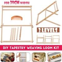 Wooden Weaving Loom Kit Hand Woven DIY Woven Set Household Tapestry Scarf Multifunctional Loom Sewing Machine