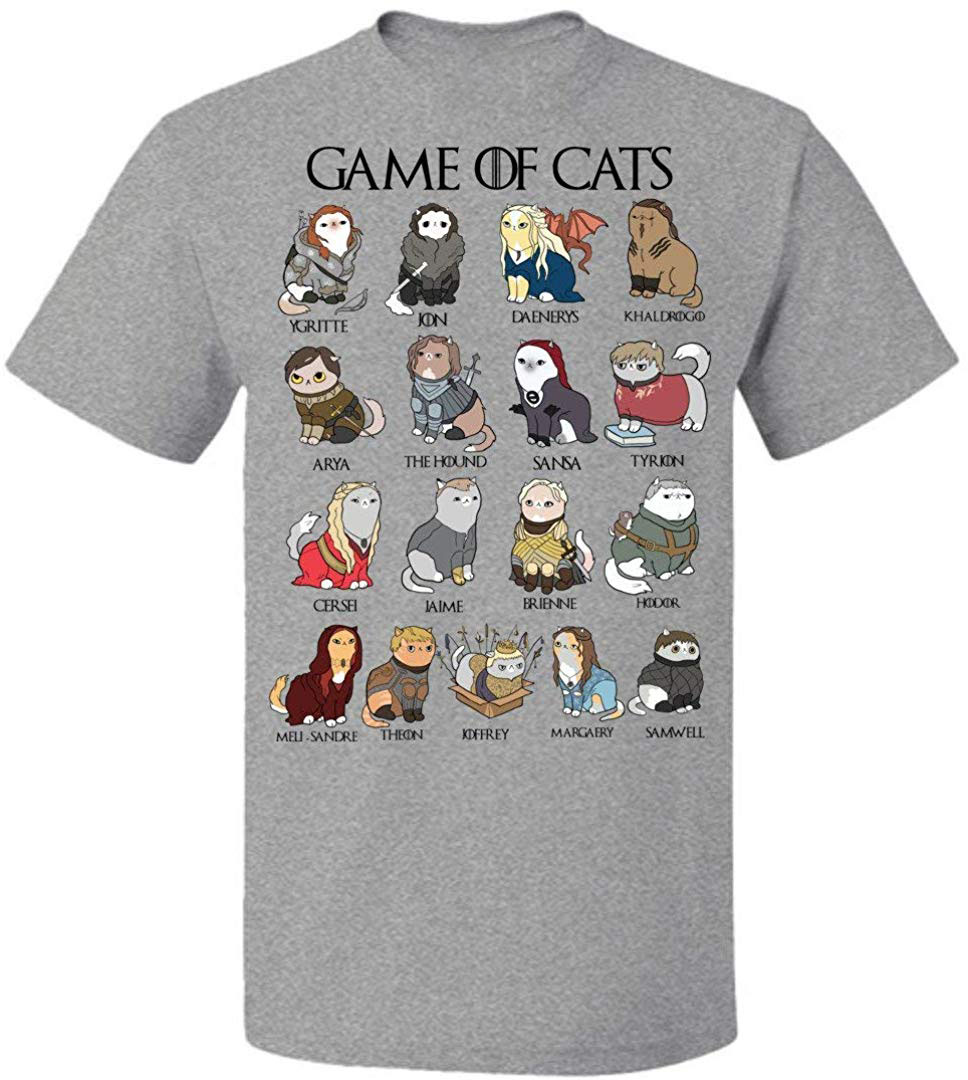 Game Of Cats Game Of Thrones T Shirt Men Women For Women Loves Cats Up To 5XL Short-sleeved TEE Shirt