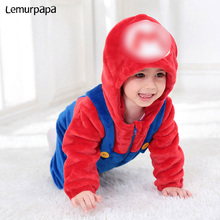 Girl Romper Hooded-Suit Playsuit Onesie Costume Baby Twins Clothes Luigi Funny Anime