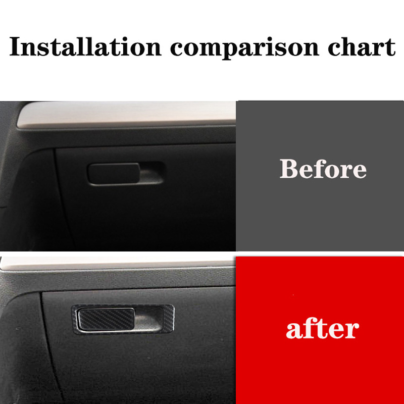 For VW Golf 7 GTI MK7 2014 2015 2016 2017 2018 2019 Car Assistant Driver Storage Box Trim Cover Car Carbon Fiber Sticker Decal image