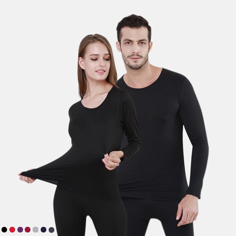 Winter Plus Size L- 6XL Thermal Suit For Men Women Cotton Men's Thermal Underwear Warm Autumn Undershirts Long Pants Set