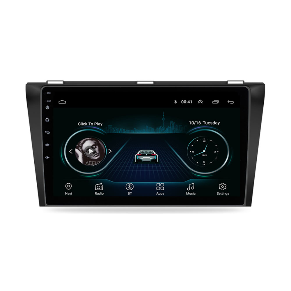 4G LTE Android 8.1 For <font><b>MAZDA</b></font> <font><b>3</b></font> 2004-2009 <font><b>Multimedia</b></font> Stereo Car DVD Player Navigation GPS Radio image