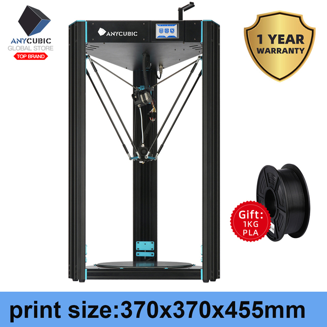 ANYCUBIC 3D Printer Predator Large Plus Size Full Metal TFT  Screen 3d Printer High Precision 3D Drucker Impresora 370*370*455mm