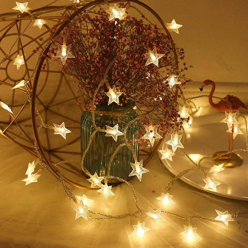 2020 Christmas Decoration 3M LED Star Light Strings Fairy Lights Twinkle Garlands Battery Powered Navidad Kerst