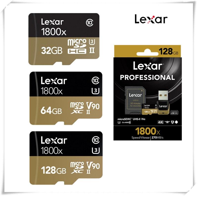 High Speed!! Lexar 1800x 32GB 64GB Micro SDXC Card 270MB/s U3 Professional 32GB 64GB Micro SD SDHC Memory Card TF Card Class10