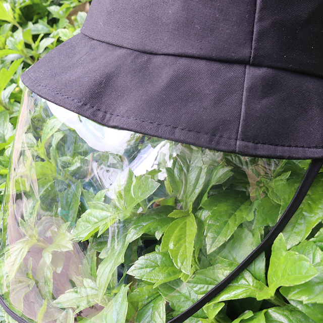 Windproof Sun Hat Face Shield Cover Hat Anti Spitting Saliva Dust proof Fisherman Cap With Detachable Clear Facial Mask 5