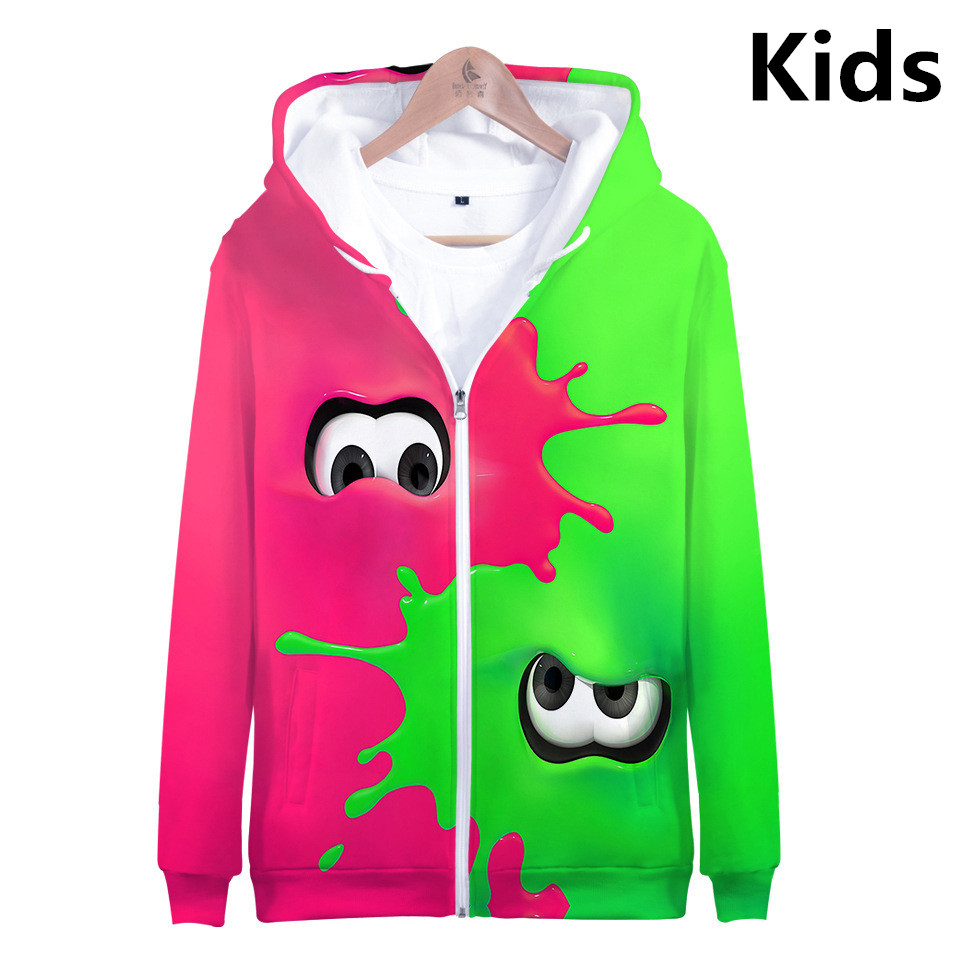 child Cartoon Animal Hoodie 3D Printed Sweater Sweatshirt Jacket Coat Pullover