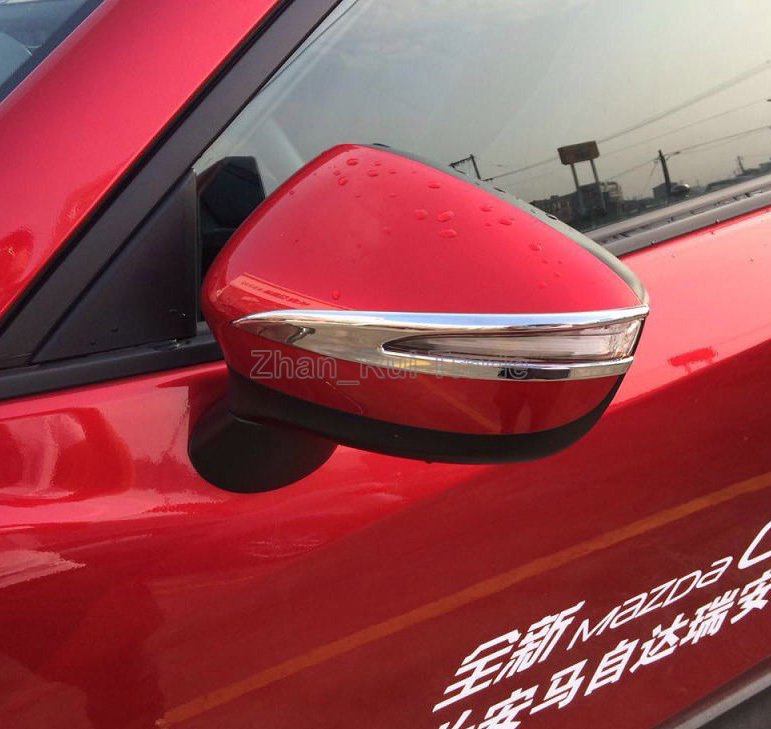 For <font><b>Mazda</b></font> CX-5 <font><b>CX5</b></font> <font><b>2015</b></font> 2016 ABS Chrome Car <font><b>Accessories</b></font> Side Mirror Trim Rear View Molding image