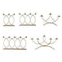 Nordic Style 3D Candlestick Metal Candle Holder Wedding Centerpiece Candelabra Dinner Home Decor
