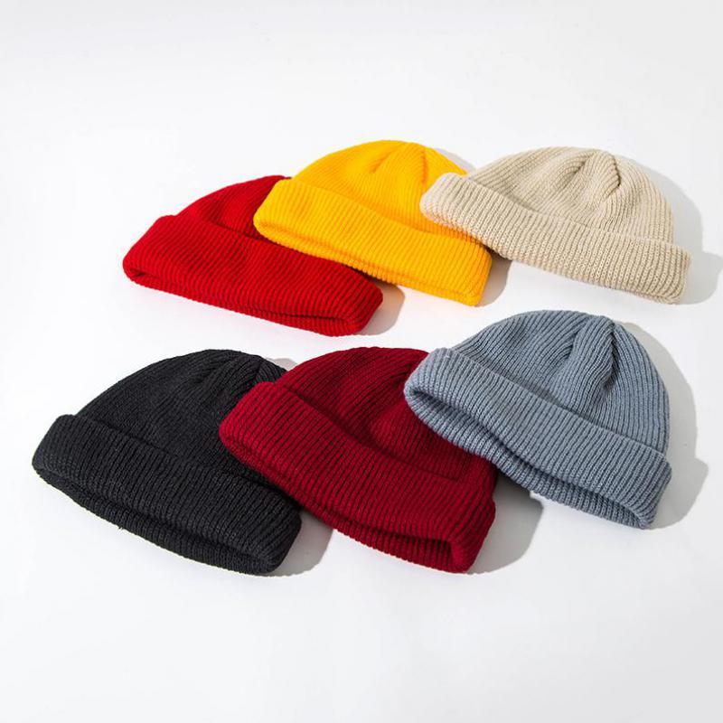 COKK Autumn Winter Knitted Beanie Hats For Women Men Solid Knit Skullies Beanies Hip Hop Gorro Bonnet Vintage Stretch Hat Female