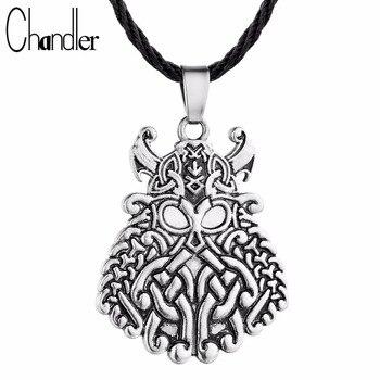 ¡Oferta! Collar con colgante de rostro de God ODN DE LOS Warrior Vikingo, joyería de runa noruega, regalos para hombre y mujer