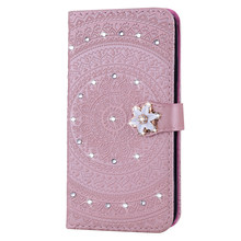 Leather Datura Pattern Case For Xiaomi 8 LITE Redmi 6A 7A 8A Note 8 7 6 Pro Retro Wallet Phone Bags For Redmi Note 6 Pro(China)