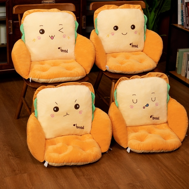 40*40*35cm Stuffed Sandwich Seat Cushion Emotional Food Plushie Surrounded Chair Sofa Jointed Bread Pillow Winter Decoration 1