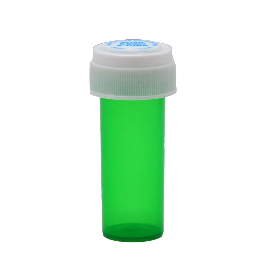 HORNET, 8 Dram, контейнер для флаконов с пуш-апом и поворотом, акриловый пластиковый контейнер для хранения, контейнер для таблеток, чехол для бутылки, контейнер для трав, водонепроницаемый контейнер - Цвет: Green