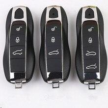 DAKATU 3/4 кнопки смарт-пульт дистанционного ключа оболочки для Porsche 911 Panamera Cayenne Macan Замена смарт-ключа пустой чехол с логотипом