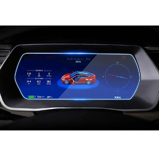 Center Console Navigation and Dashboard Screen Protector Tempered Glass Anti-Scratch Protector for Tesla Model 3/X/S 5