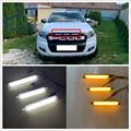 3 PCS/SET LED DRL DAYTIME LIGHTS FRONT MESH MASK COVER LED BAR LIGHTTING FOG LAMP LAMPS FIT FOR RANGER t7 T8 EVEREST grill LIGHT