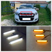 3 PCS/SET LED DRL DAYTIME LIGHTS FRONT MESH MASK COVER LED BAR LIGHTTING FOG LAMP LAMPS FIT FOR RANGER t7 T8 EVEREST grill LIGHT