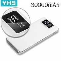 Power Bank 30000mAh For Xiaomi Mi 2 USB PowerBank Portable Charger External Battery Poverbank For iPhone 7 8 Xiaomi Huawei