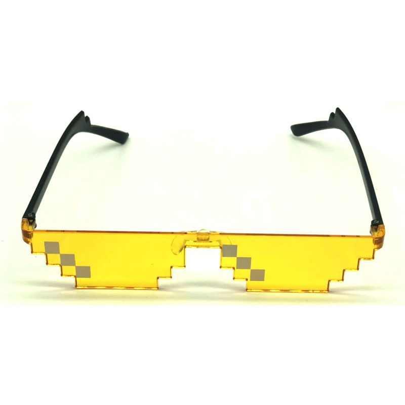 קלאסי Thug Life פסיפס משקפי שמש נשים גברים ללא שפה Modis פיקסל שמש משקפיים חתיכה אחת משקפיים