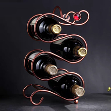 Creative European style Metal wine rack decoration modern simple wine bottle rack wine cabinet decoration room decoration