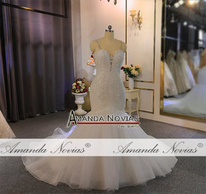 Image 5 - Straps lace mermaid wedding dress with beading custom order for black girl