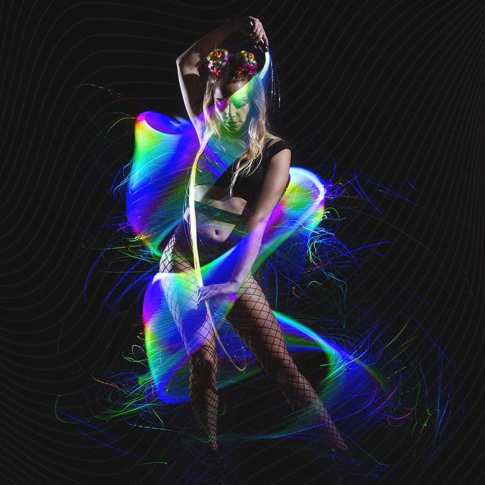 Программируемый светодиодный плетка из волоконно-оптического волокна 70 дюймов Поворотный на 360 °-супер яркий светильник, игрушка в стиле Ре...
