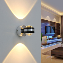 6W LED Wall Light Aluminium UP and Down Indoor Lighting Light Fixture Wall Lamp For Bedside Living Room Bedroom Aisle Wall Lamp simple modern 6w lampada led aluminium wall light rail project square led wall lamp bedside room bedroom wall lamps arts