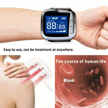 18 Beams Bio 650nm Laser Pain Relief Wrist Watch Laser Therapy Device for High Blood Pressure Hypertension Treatment цена 2017