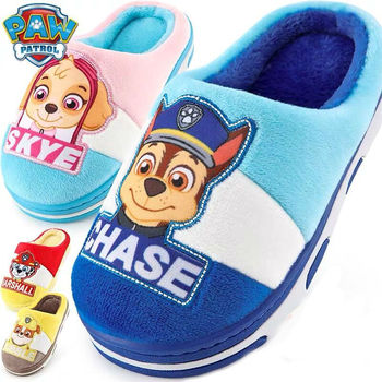 2019 New Genuine paw patrol children's shoes Autumn winter puppy patrol baby slippers dog skye marshall rubble kids children toy