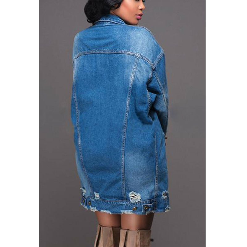Autumn Winter Women Hole Denim Jacket 2019 Harajuku boyfriend Wind Jean Jacket Loose Long Sleeve Female Autumn Winter Women Hole Denim Jacket 2019 Harajuku boyfriend Wind Jean Jacket Loose Long Sleeve Female Coats Large Size Female