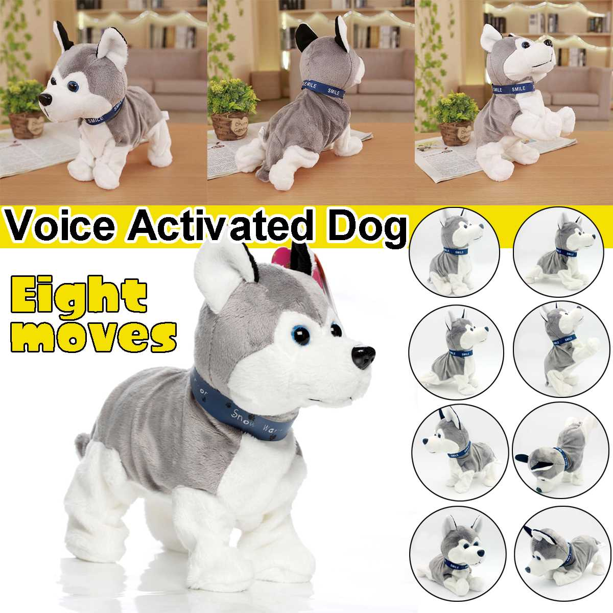Smart Sound Control Electronic Dogs Interactive Electronic Pets Robot Dog Bark Stand Walk Electronic Toys Dog For Kid Baby Gifts image