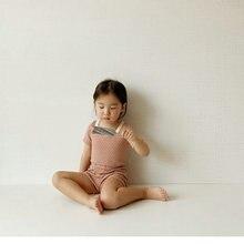 2021 Summer Baby Cotton Pijama Set Polka Dot Infant Girl Boy Pajamas Nightgown Clothes Short Sleeve T-shirt+Pyjamas Shorts 0-24M